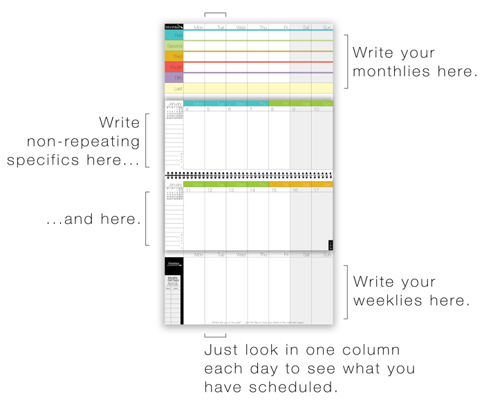 WeekDate Best Paper Planner