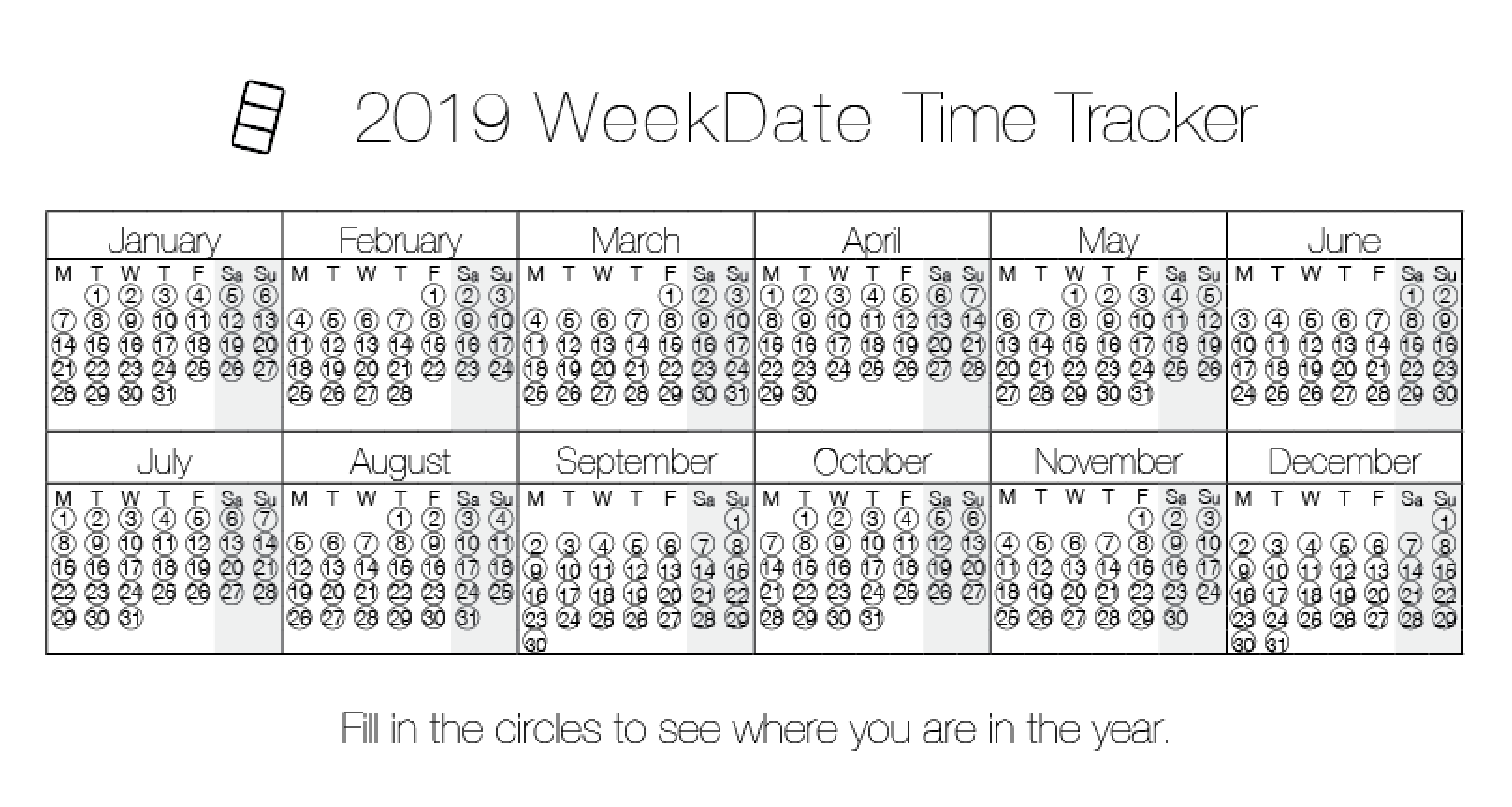 Best Paper Planner - WeekDate